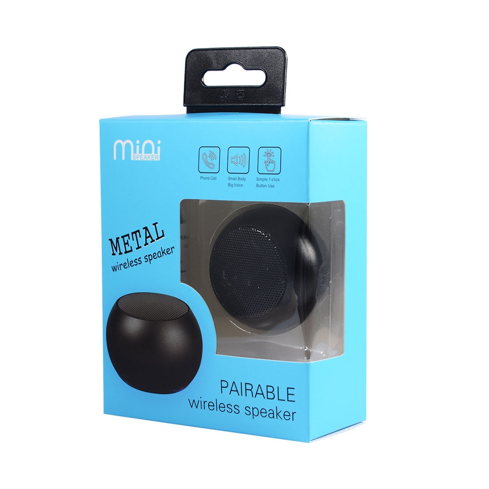 2 Mini parlantes portable Bluetooth stereo emparejable caja