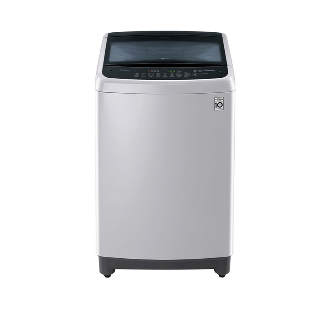 18kg Lavadora LG Carga Superior, Smart Inverter, Smart Motion, TurboDrum, Color Plata